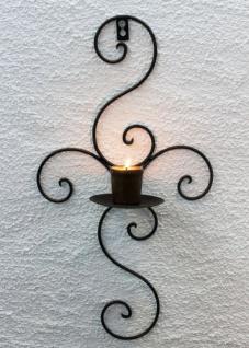 Wandkerzenhalter 12112 Kerzenhalter aus Metall Schmiedeeisen 48cm Kerzenleuchter