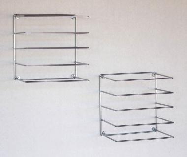 DanDiBo Handtuchhalter Chrome Wand Handtuchregal zur Wandmontage 2er Set 20 cm 93928 Unsichtbar Schwebend Wandhandtuchhalter Metall Modern Design - Vorschau 2