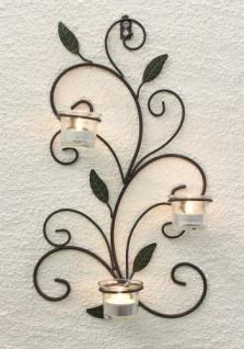 Wandteelichthalter 131004 Teelichthalter aus Metall 45cm Wandleuchter Kerzenhalter - Vorschau 2