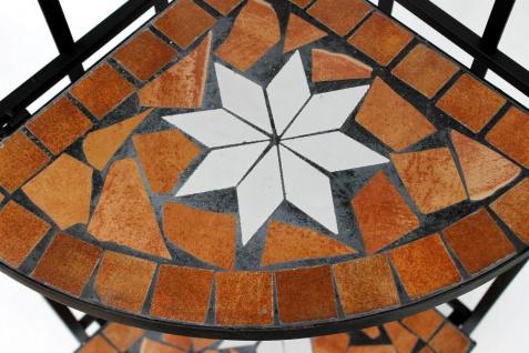 Eckregal Mosaik Merano 12005 Bücherregal 114cm aus Metall Schmiedeeisen Regal - Vorschau 4