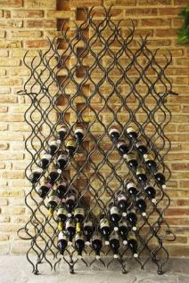 """Weinregal """" Grand Feu"""" 190cm Metall Schmiedeeisen für 127 Flaschen Flaschenhalter"""