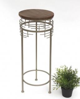Blumenhocker Metall 21288-M Blumenständer 68 cm Rund Beistelltisch Modern