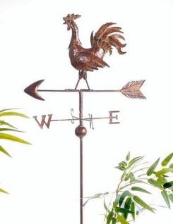 Wetterhahn Wetterfahne 13901 Hahn aus Metall Windrad 165 cm Bodenstecker - Vorschau 2