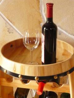 Weinregal Weinfass Fass aus Holz H-81cm Nr.0370 Flaschenständer - Vorschau 3