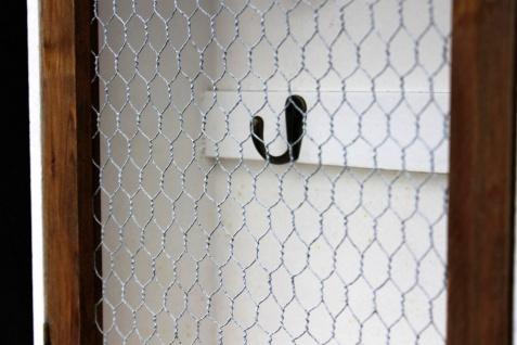 Schlüsselregal Holz Weiß Briefablage Wandregal Schlüsselkasten 12045 Regal 42 cm Vintage Shabby Landhaus Küchenregal - Vorschau 5
