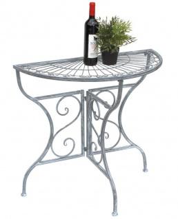 Wandtisch abklappbar weiß Esstisch Küchentisch Tisch halbrund Platte Wand neu
