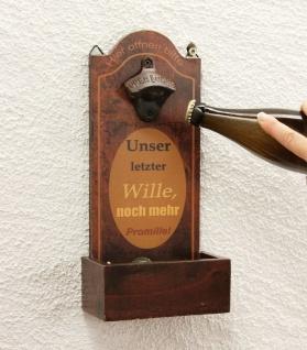 Flaschenöffner mit Kronkorkenbehälter 5093 Bieröffner 32cm Wandflaschenöffner Öffner