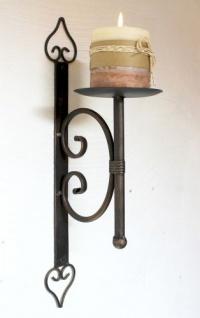 Wandkerzenhalter 12110 Kerzenhalter aus Metall Wandleuchter 41cm Kerzenleuchter - Vorschau 4