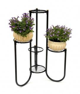 DanDiBo Blumentreppe Metall Schwarz 93921 Pflanzenentreppe Blumenregal Pflanzenständer Blumenständer - Vorschau 4