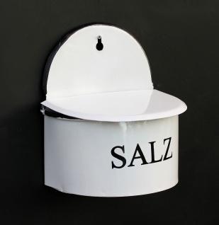 Emaille Wandbehälter Salz mit Deckel 5502 Salzbehälter Behälter Dose emailliert Vorratsbehälter Wand Wandmontage