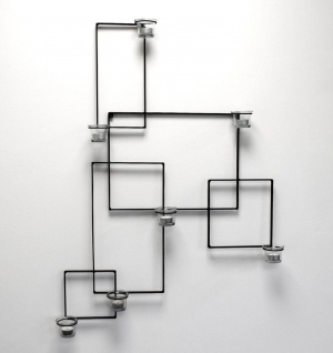 DanDiBo Wandteelichthalter Alegria Metall Wand Schwarz Teelichthalter Kerzenhalter Wandkerzenhalter Wandleuchter - Vorschau 2