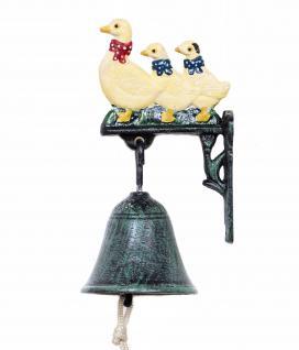 Türglocke Enten Familie 21105 Glocke aus Metall Gusseisen mit Ente Türklingel - Vorschau 4