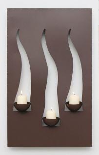 Wandleuchter Flamme 13333 Kerzenleuchter für 3 Kerzen Wandkerzenhalter aus Metall Kerzenhalter - Vorschau 3