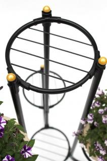 DanDiBo Blumentreppe Metall Schwarz 93921 Pflanzenentreppe Blumenregal Pflanzenständer Blumenständer - Vorschau 3