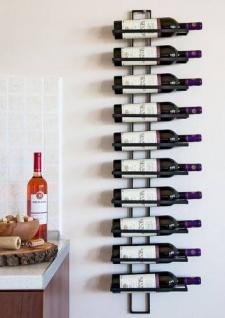 Weinregal Dies 116 cm aus Metall für 10 Flaschen Flaschenstände für die Wand