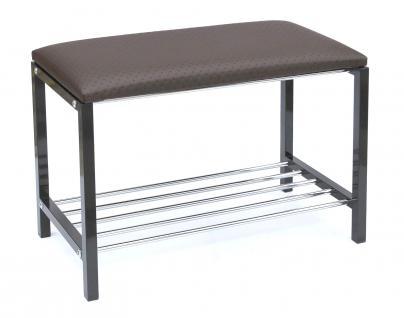 Schuhregal mit Sitzbank Art.391 Bank 70cm Schuhschrank aus Metall Schuhablage - Vorschau 5