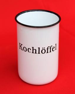 """Nostalgischer Kochlöffelhalter """"Kochlöffel"""" 51212 Weiß 11, 5 cm emailliert Landhaus Emaille Becher Metallbecher - Vorschau 5"""