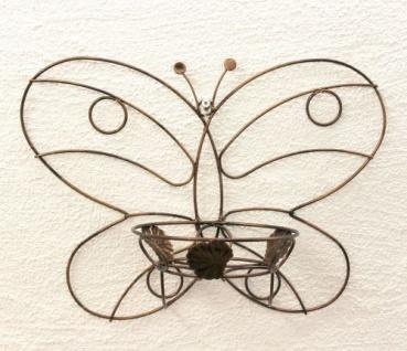 Wandtopfhalter Art.163 Schmetterling Blumenständer Wandhalter Blumentopfhalter