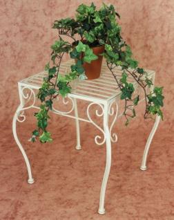 Blumenhocker Romance 35cm Blumenständer 20217 Pflanzenständer Beistelltisch Weiß - Vorschau 3