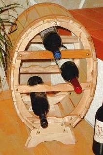 Weinregal Weinfass für 6 Flaschen Natur lackiert