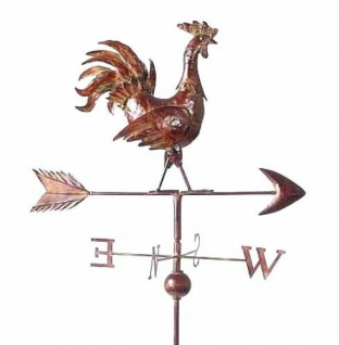 Wetterhahn Wetterfahne 13901 Hahn aus Metall Windrad 165 cm Bodenstecker - Vorschau 1