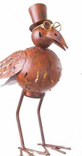 """Vogel """" Bendus"""" aus Metall Windlicht Teelicht Kerzenhalter 46cm"""