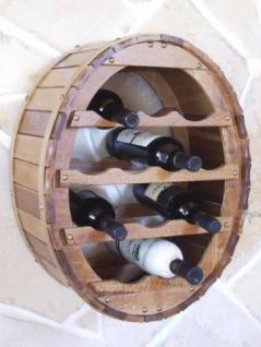 Weinregal Weinfass Wandregal zum aufhängen für 12 Flaschen Br
