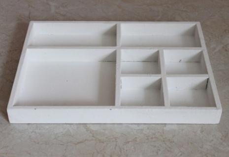 Sortierkasten Setzkasten 12291 Weiß 32cm aus Holz Sammlervitrine Sortierschublade