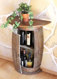 Wandtisch Tisch Weinfass 0373-R Braun Schrank Weinregal Fass 73cm Beistelltisch