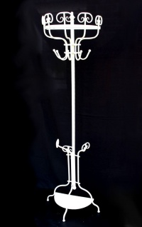 Garderobe Halbrund 95306 Wandgarderobe 175 cm Weiß Kleiderhaken Wandhaken Haken - Vorschau 2