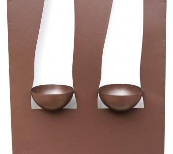 Wandleuchter Flamme 13311 Kerzenleuchter für 2 Kerzen Wandkerzenhalter aus Metall Kerzenhalter. - Vorschau 3