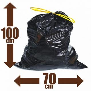 80x Müllsäcke 120l Zugband Extra Reißfest Stark Abfallsäcke Zugbandsack Müllsack