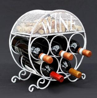 Weinregal Metall Korkenbehälter Rund Freistehend Klein Flaschenregal 83133 Weinschrank Flaschenständer