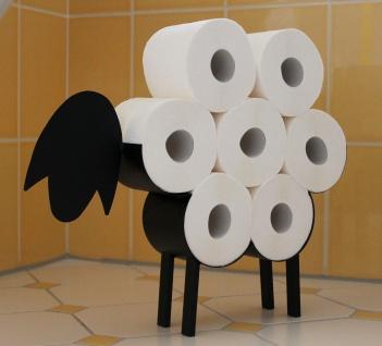 DanDiBo Toilettenpapierhalter Schwarz Metall Schaf WC Rollenhalter Freistehend WC Papierhalter Toilettenrollenhalter Lustig - Vorschau 4