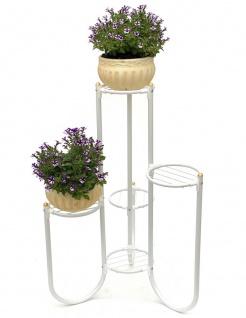 DanDiBo Blumentreppe Metall Weiß 93920 Pflanzenentreppe 81 cm Blumenregal Pflanzenständer Blumenständer
