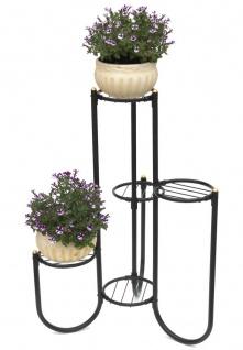 DanDiBo Blumentreppe Metall Schwarz 93921 Pflanzenentreppe Blumenregal Pflanzenständer Blumenständer - Vorschau 1