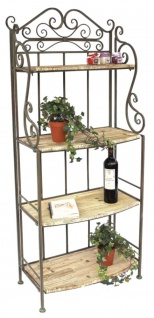 Regal Malega 12060 aus Metall und Holz 150cm Bücherregal Badregal Küchenregal