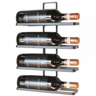 Weinregal aus Metall in Schwarz für die Wandmontage 4-Wine erweiterbar Flaschenständer Flaschenregal Flaschenhalter