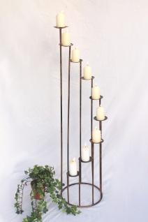 Kerzenständer Art.225 aus Schmiedeeisen 102cm Kerzenleuchter Kerzenhalter Metall