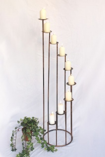 Kerzenständer Art.225 aus Schmiedeeisen 102cm Kerzenleuchter Kerzenhalter Metall - Vorschau 1