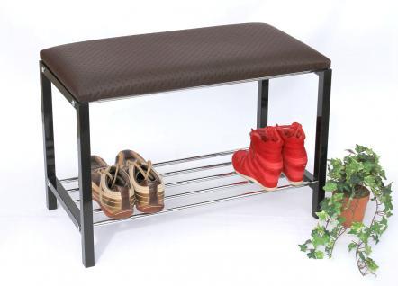Schuhregal mit Sitzbank Art.391 Bank 70cm Schuhschrank aus Metall Schuhablage - Vorschau 4