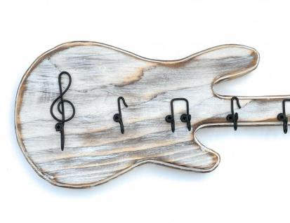 DanDiBo Schlüsselbrett Holz Handmade 96107 Gitarre Schlüsselboard Schlüsselhaken Schlüsselleiste Schlüsselkasten - Vorschau 3