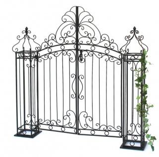 Gartentor Schwarz 120 cm Gartentür 170747 Eingangstor Gartenpforte Metall Antik Pforte Eisen
