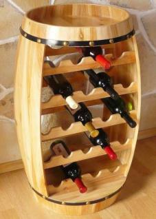 Weinregal Weinfass Fass aus Holz H-81cm Nr.0370 Flaschenständer - Vorschau 2
