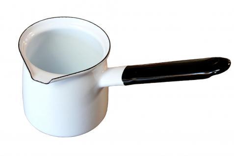 Kaffeekocher Weiß 67/6 emailliert Milchkanne Mokkakanne Cezve Dzhesva Emaille