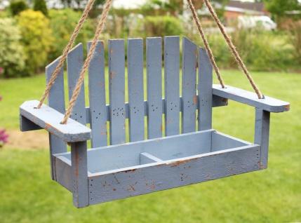 Blumenampel Schaukel 14B249 Blau Gartenschaukel 39cm Vogelfutter oder Pflanzhänger