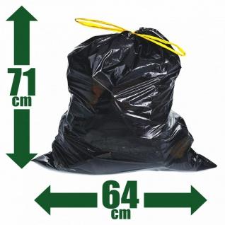 100x Müllsäcke 60l Zugband Extra Reißfest Stark Abfallsäcke Zugbandsack Müllsack - Vorschau 1