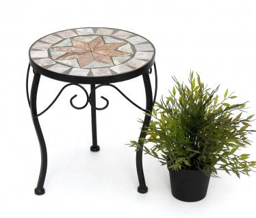 Blumenhocker Mosaik Rund 29 cm Blumenständer 17828 Beistelltisch Pflanzenständer Mosaiktisch Klein