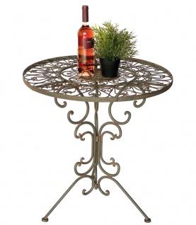 DanDiBo Tisch Bistrotisch Antik Rund Gartentisch Metall 1792 Eisentisch Balkontisch Vintage