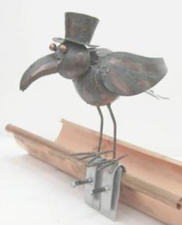 Vogel Möwe aus Metall Dachschmuck für die Dachrinne 28cm
